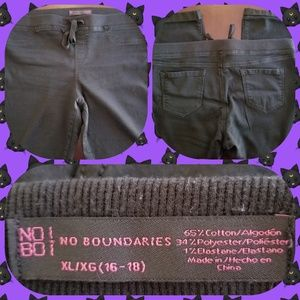 No Boundries black Jr. Pull on Crop pants. Size 14